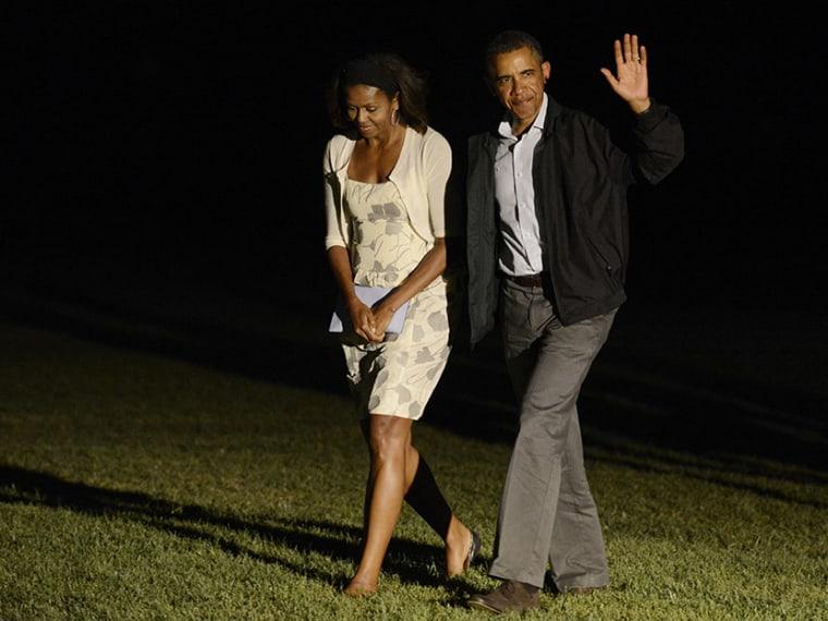 Obama Returns From Vacation - Aliyah Frumin - 08/19/2013