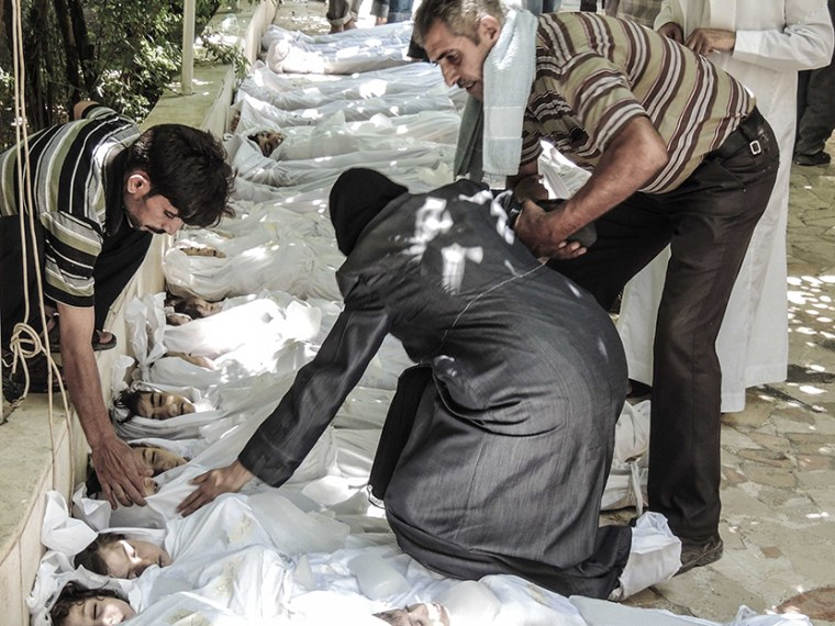 Aftermath of Chemical Weapon Attacks in Damascus, Syria - 08/26/2013