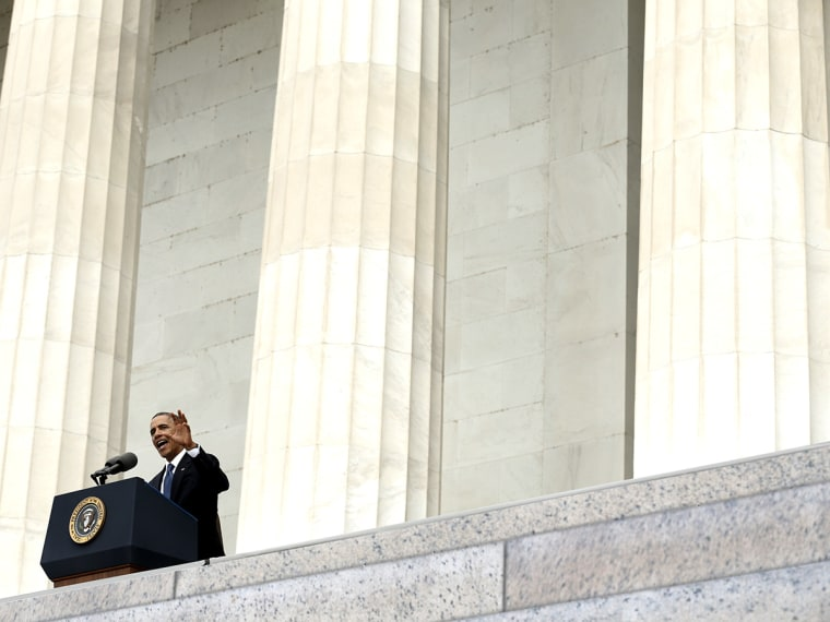 U.S. President Barack Obama speaks at the 50th anniversary of the March on Washington