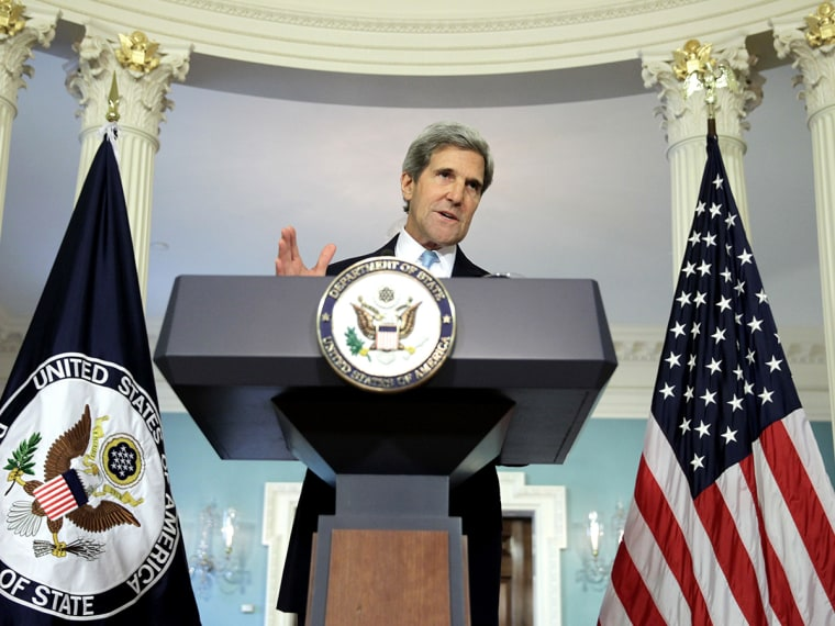 Image: Secretary Of State John Kerry Speaks On Syria At The State Department