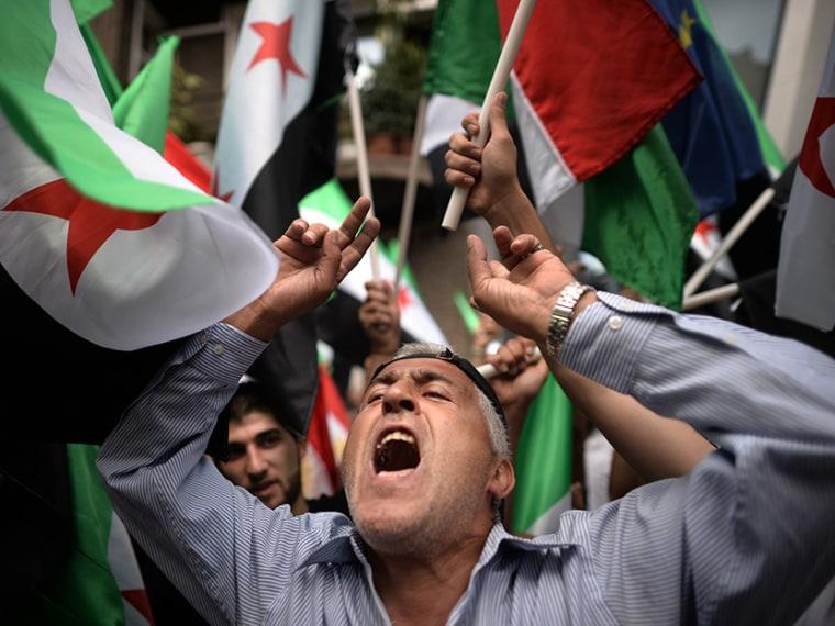 BULGARIA-SYRIA-CONFLICT-PROTEST