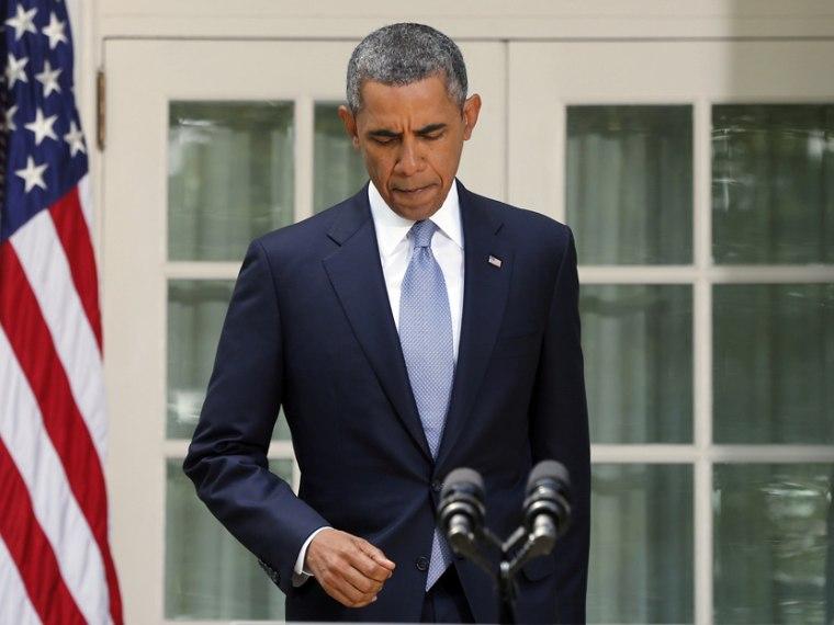 President Barack Obama arrives to make a statement about Syria - 9/1/2013