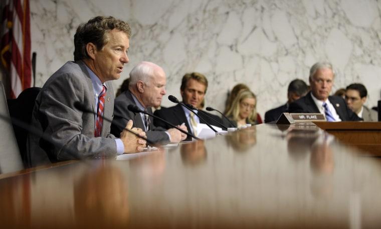 Rand Paul, John McCain, Jeff Flake, Ron Johnson