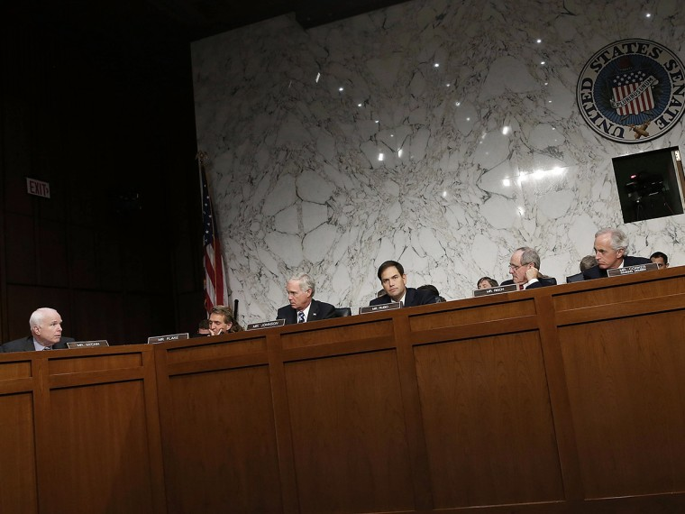 Senate Foreign Relations Cmte Holds Business Meeting On Use Of Force In Syria