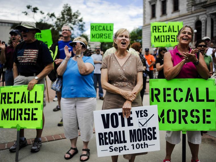 Colorado recall election - Sarah Muller - 09/9/2013