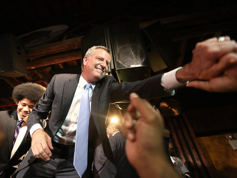 NYC Mayoral Candidate Bill De Blasio Hosts Primary Night Party In Brooklyn