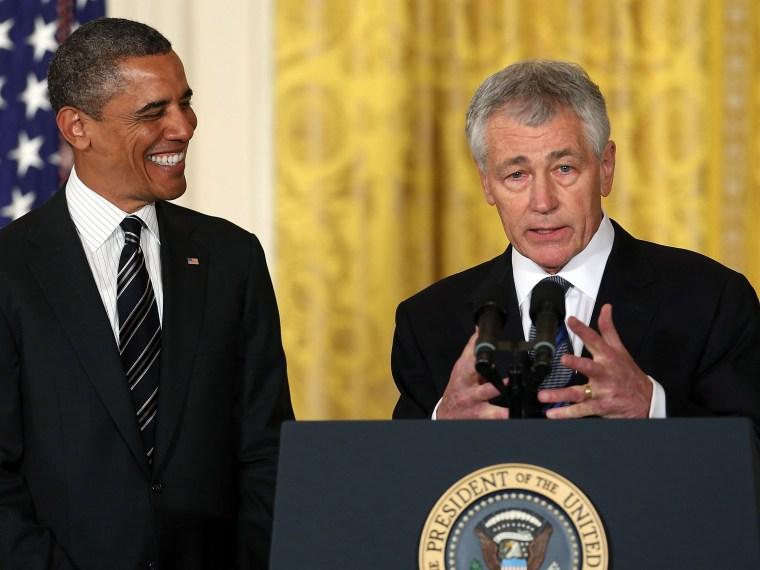 Image: Obama Nominates Hagel For Defense Secretary, Brennan For CIA Chief