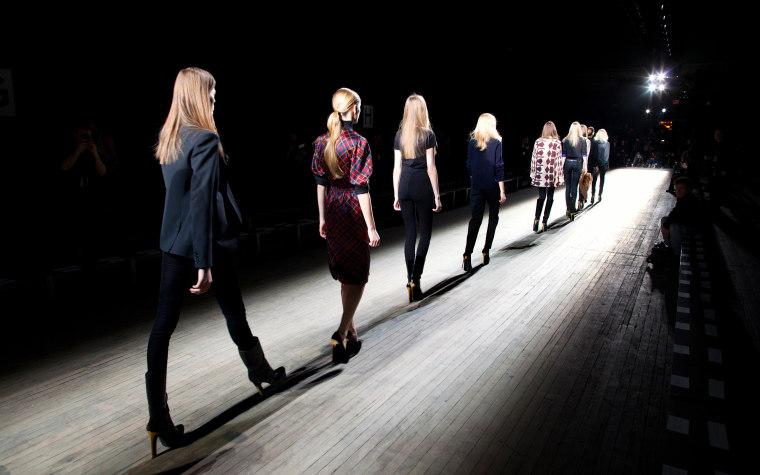 APTOPIX Fashion Theyskens' Theory Fall 2012 Backstage