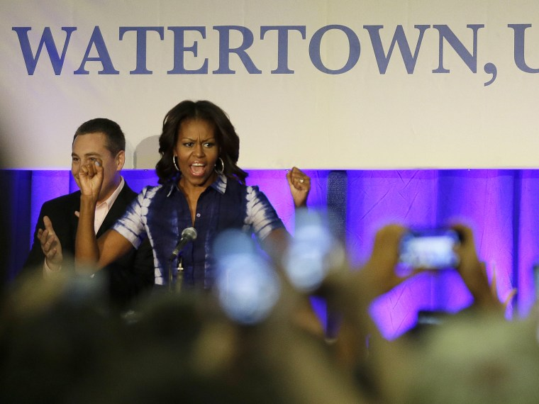 Michelle Obama water campaign - Morgan Whitaker - 09/17/2013