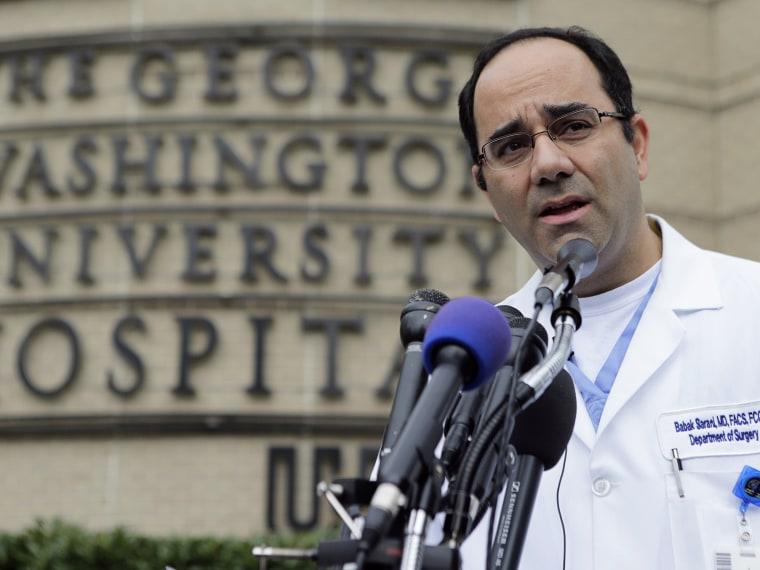 Babak Sarani, head of trauma surgery at George Washington University Hospital - Suzy Khimm - 09/17/2013