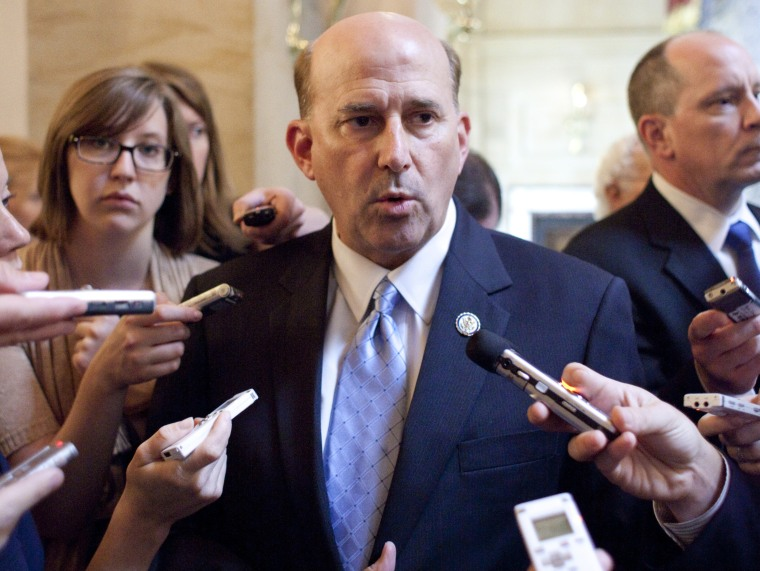 Image: Rep. Louie Gohmert, R-Texas, speaks to reporters