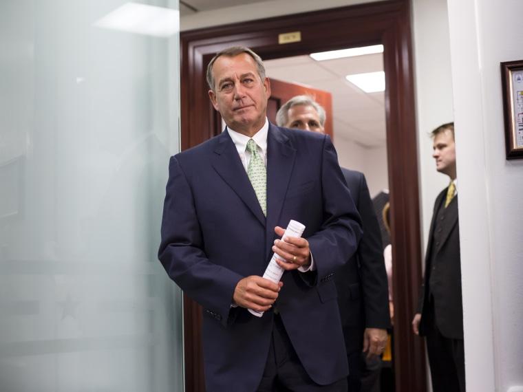 John Boehner, Budget Impasse - Emma Margolin - 09/18/2013