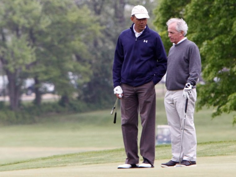 Barack Obama Plays Golf with Senators