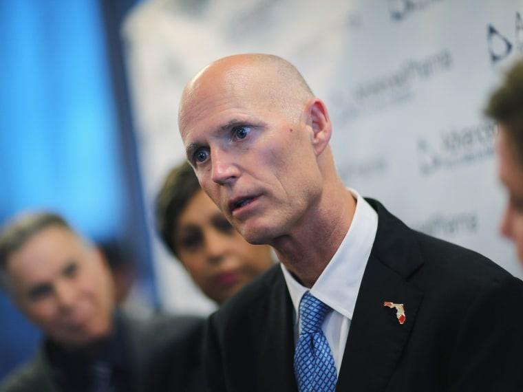 Florida Gov. Scott Visits Opening Of Advanced Pharma Facility- 09/25/13