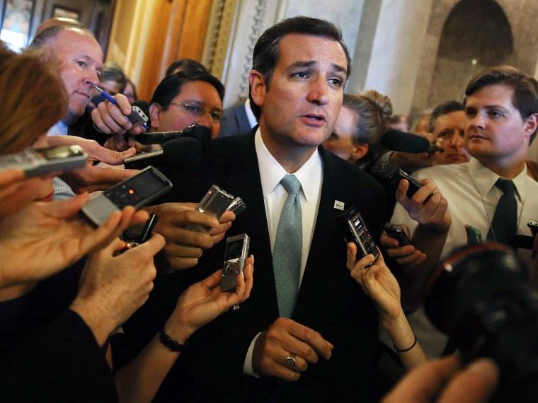 Sen. Ted Cruz (R-TX) Pulls All Nighter- Sarlin- 09/25/13