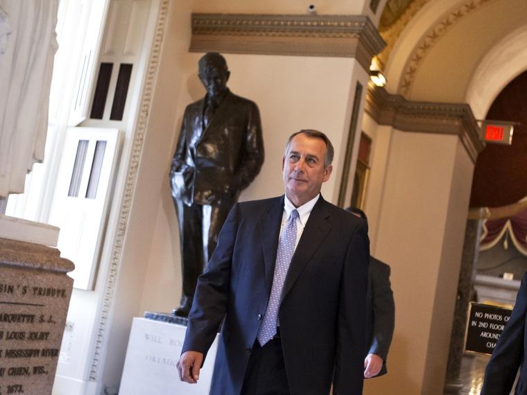 John Boehner, budget battle
