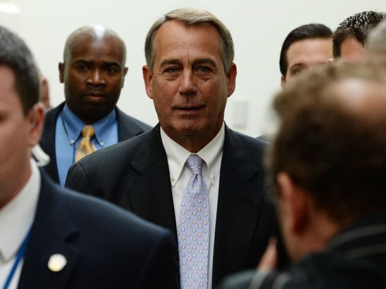 US House Republican meeting- Boehner- 09/28/13