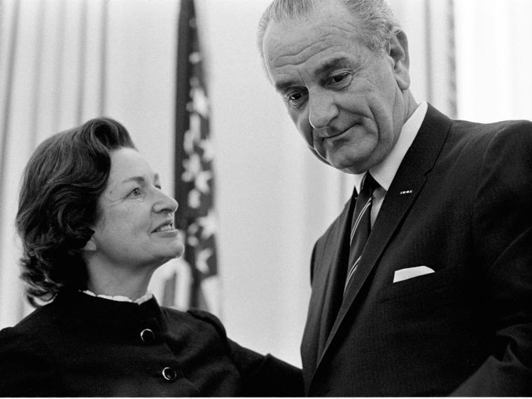 Lady Bird Johnson, President Lyndon B. Johnson
