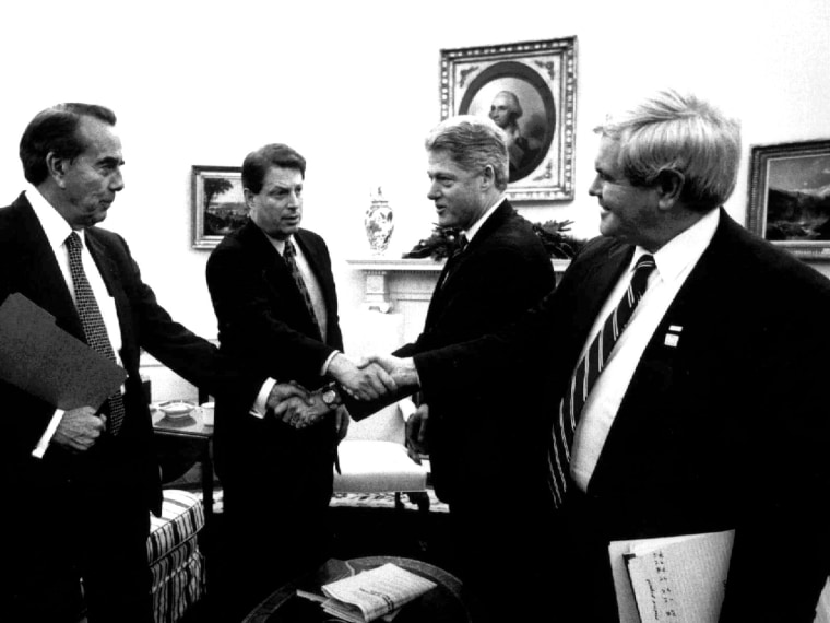 Clinton, Gore, Gingrich, Dole, 1995 shutdown