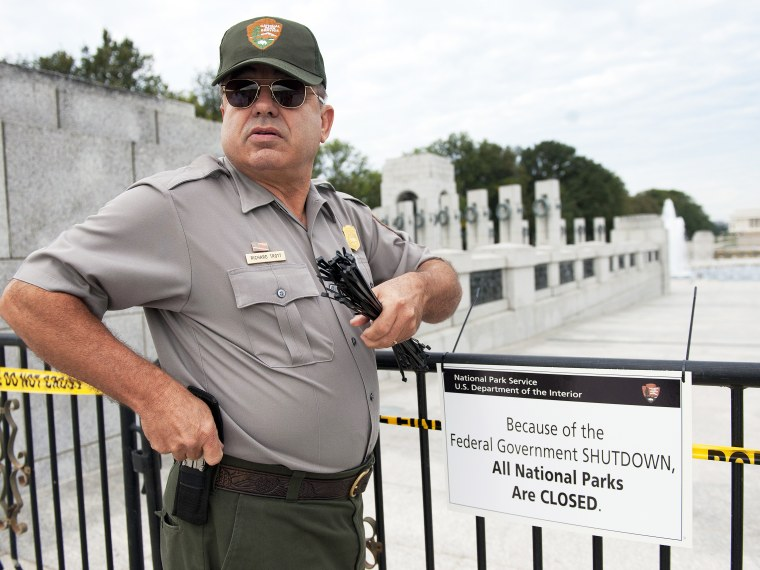 WWII Memorial Closed