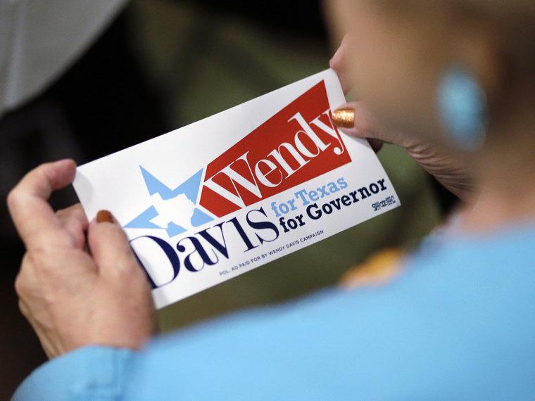 Wendy Davis supporter