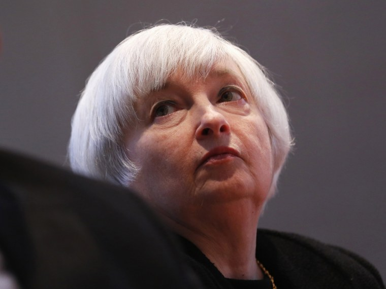 U.S. Federal Reserve Vice Chairman Janet Yellen listens to remarks during a discussion on the economy at the AFO-CIO  in Washington February 11, 2013.