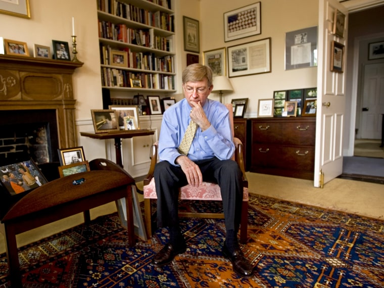 George Will, a Pulitzer Prize-winning conservative American newspaper columnist, journalist, and author.