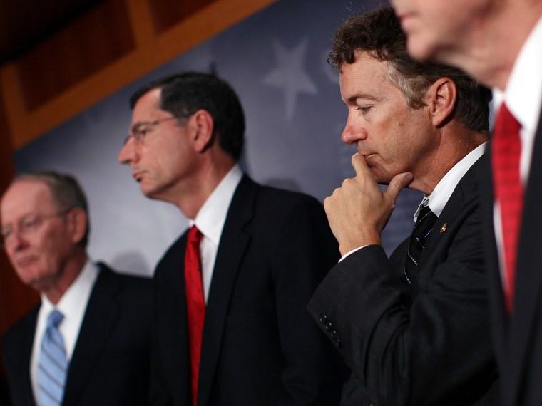 Republican Senators Hold News Conference On NLRB