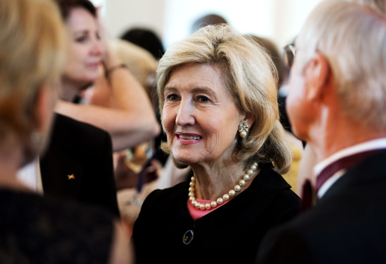 Former US Senator Kay Bailey Hutchison attends the Lone Sailor Awards Dinner at the National Building Museum in Washington, DC, September 18, 2013.