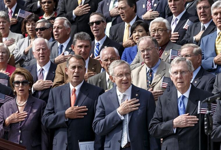 Nancy Pelosi, John Boehner, Mitch McConnell, Harry Reid, Steny Hoyer