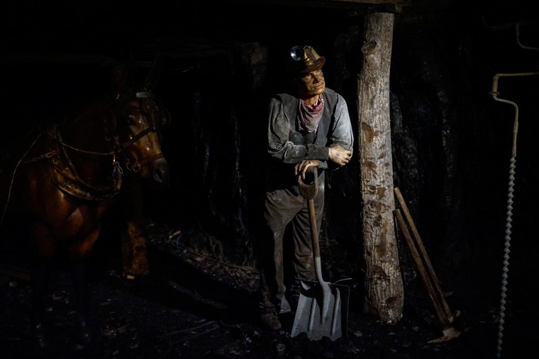 A reconstructed coal mine with an animatronic figures at the Portal 31 Museum in Lynch, KY.  The museum is devoted to Kentucky's coal industry.