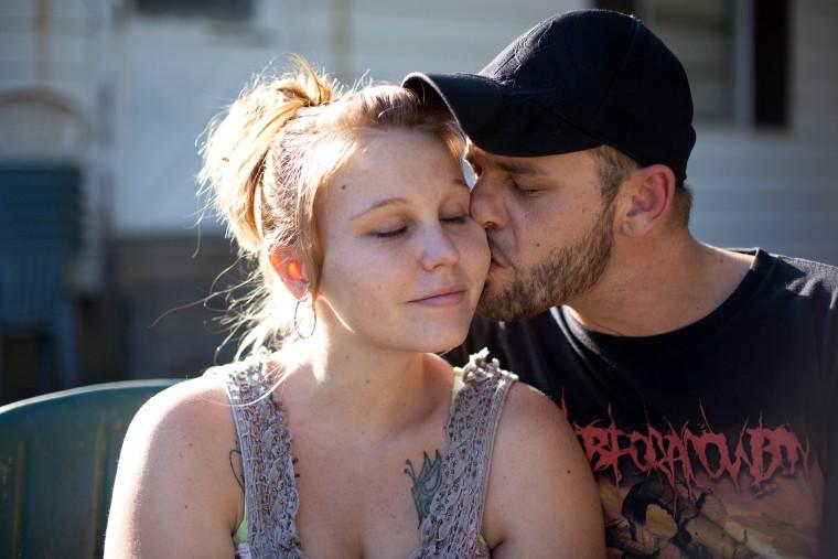 Jessica and Erick Davis at their Oklahoma City home on September 23, 2013.