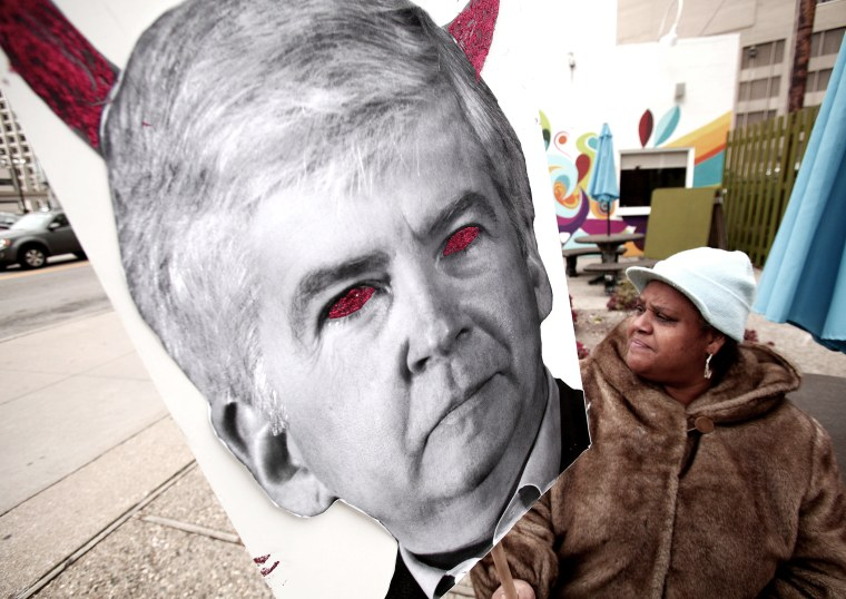Protests Continue Outside Detroit Bankruptcy Eligibility Hearing