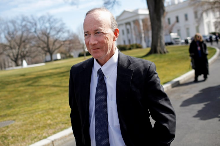 Mitch Daniels leaves the White House after a meeting of the National Governors Association with President Barack Obama February 27, 2012 in Washington, DC.