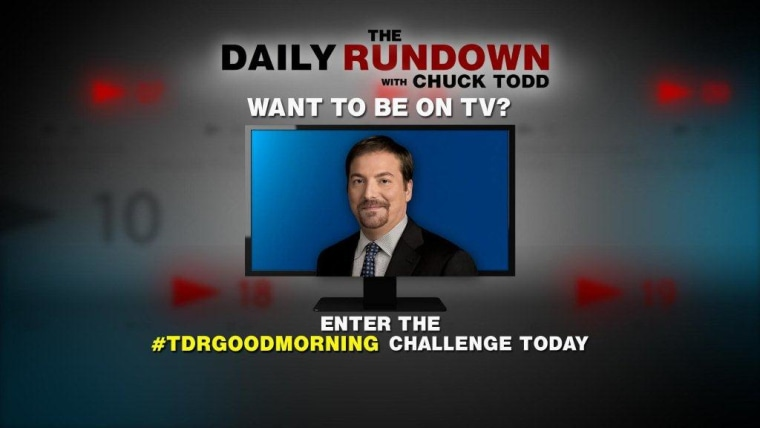 Join our #TDRgoodmorning challenge!