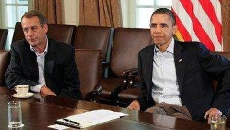 Boehner tells Obama, My offer is this: nothing