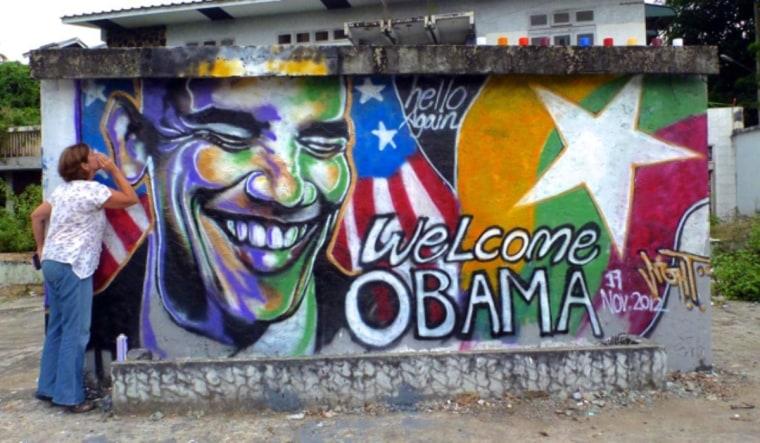 Myanmar graffiti artist welcomes Obama