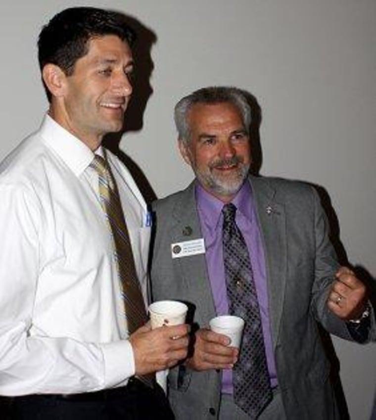 Rep. Paul Ryan (R-Wis.) and state Rep. Roger Rivard (R-Wis.)