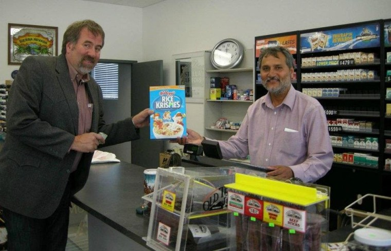 Doug LaMalfa is the one on the left, buying the cereal.