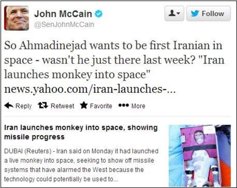 The comedy stylings of John McCain