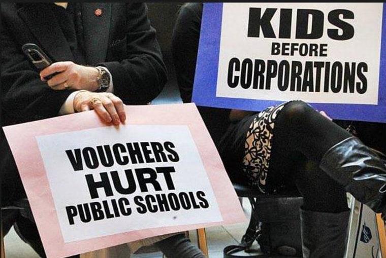 GOP sees school vouchers as a political panacea