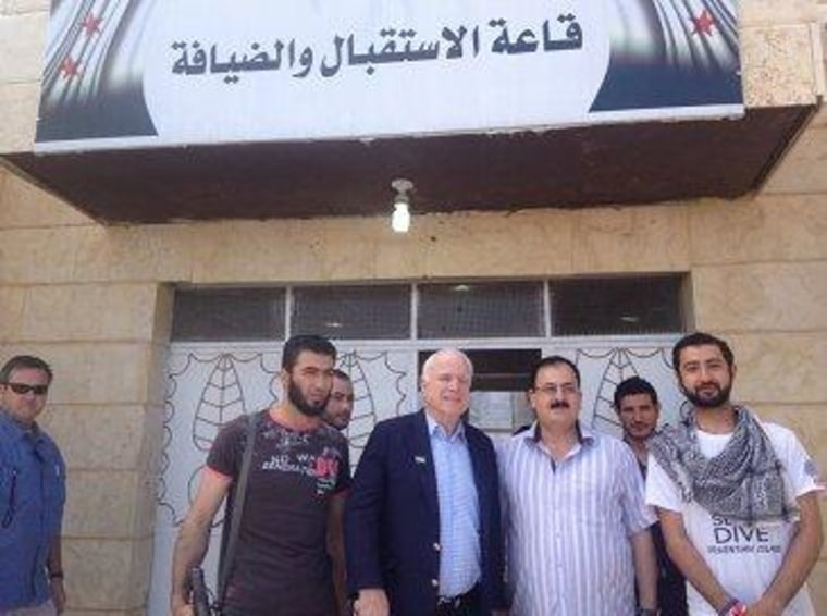 John McCain in Syria with rebels.