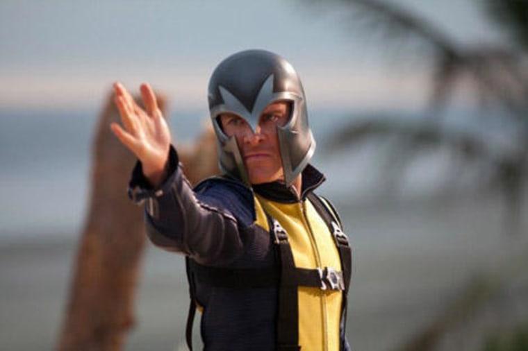 "Michael Fassbender as Magneto in ""X-Men: First Class."""