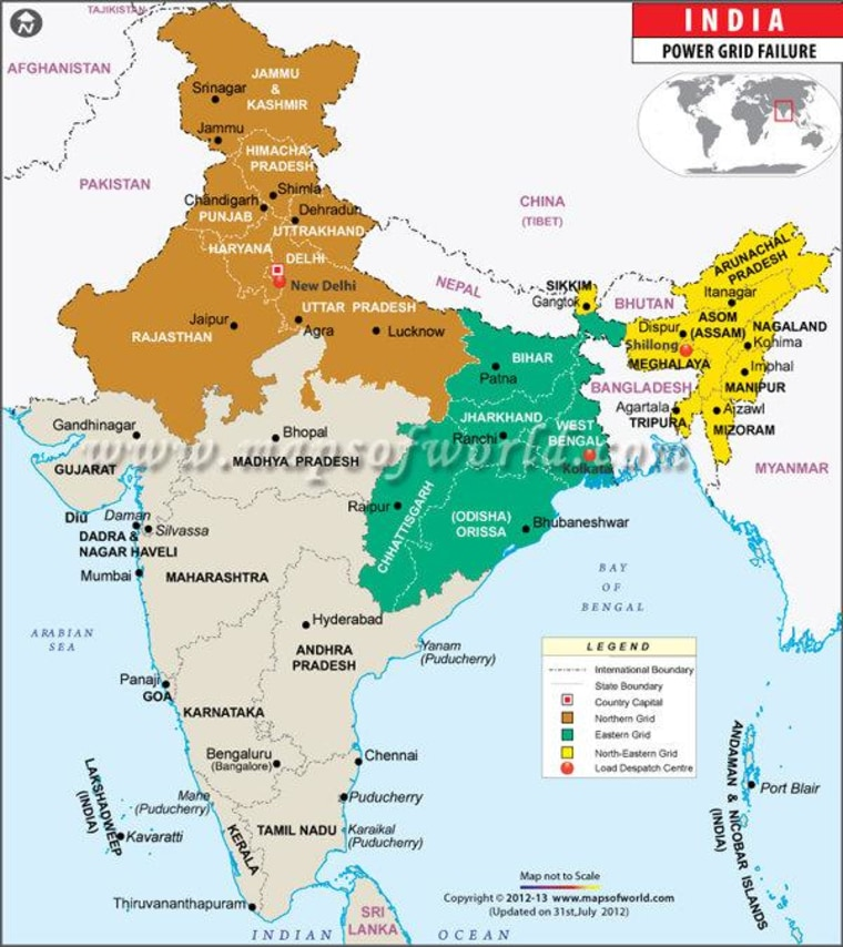India power outage: Can I get a map with that?