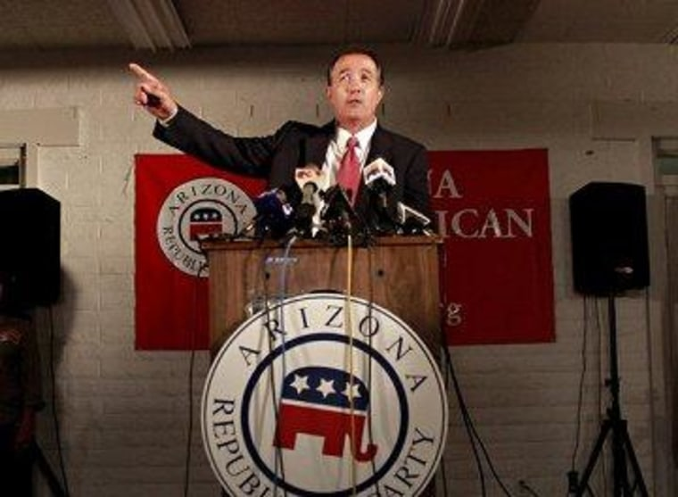 Rep. Trent Franks (R-Ariz.) always seems to be pointing to his right.