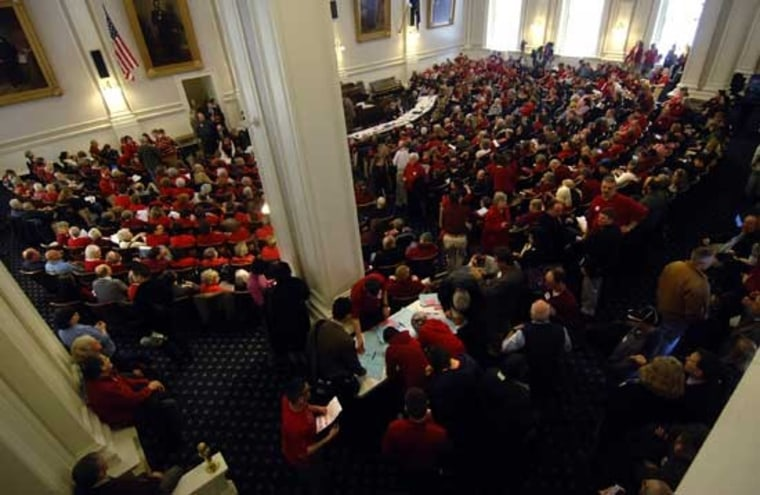 Equality supporters jam the House gallery in New Hampshire.