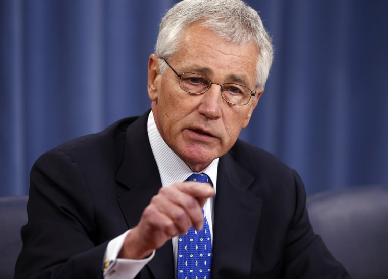 Defense Secretary Chuck Hagel speaks at a news conference at The Pentagon, Wednesday, Sept. 18, 2013.