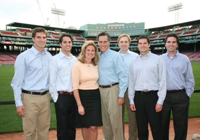 Comedian Matt Romney is second from the far right.