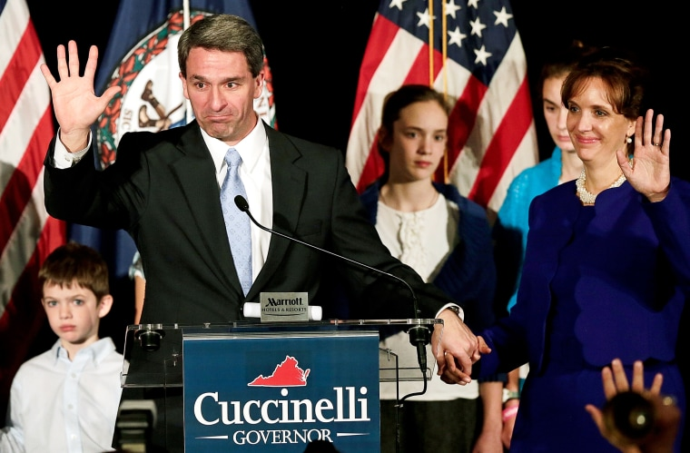 Ken Cuccinelli waves goodbye to supporters after conceding the Virginia Governor's race, November 5, 2013 in Richmond, Virginia.