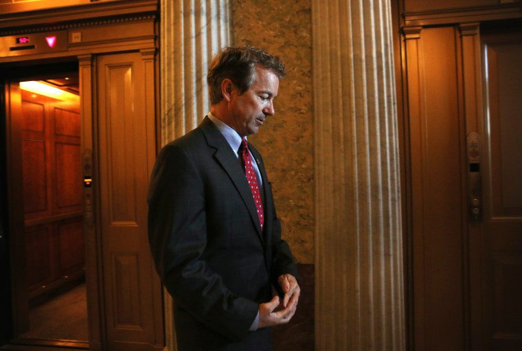 Sen. Rand Paul (R-KY) at the U.S. Capitol, October 15, 2013.